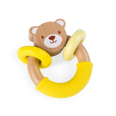 HOCHET OURS BABY POP (BOIS ET SILICONE) - JANOD
