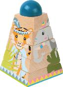 PYRAMIDE A EMPILER JUNGLE FSC 100% - SMALL FOOT DESIGN